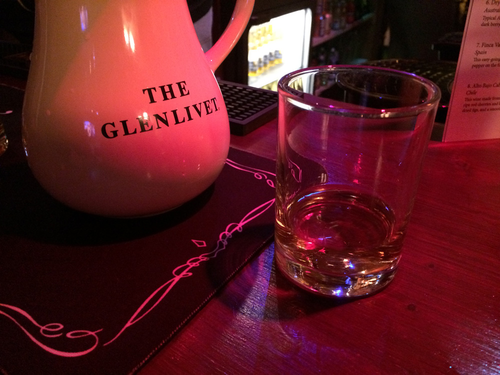 A dram of Glenlivet at the The Croft Inn to welcome in the new year