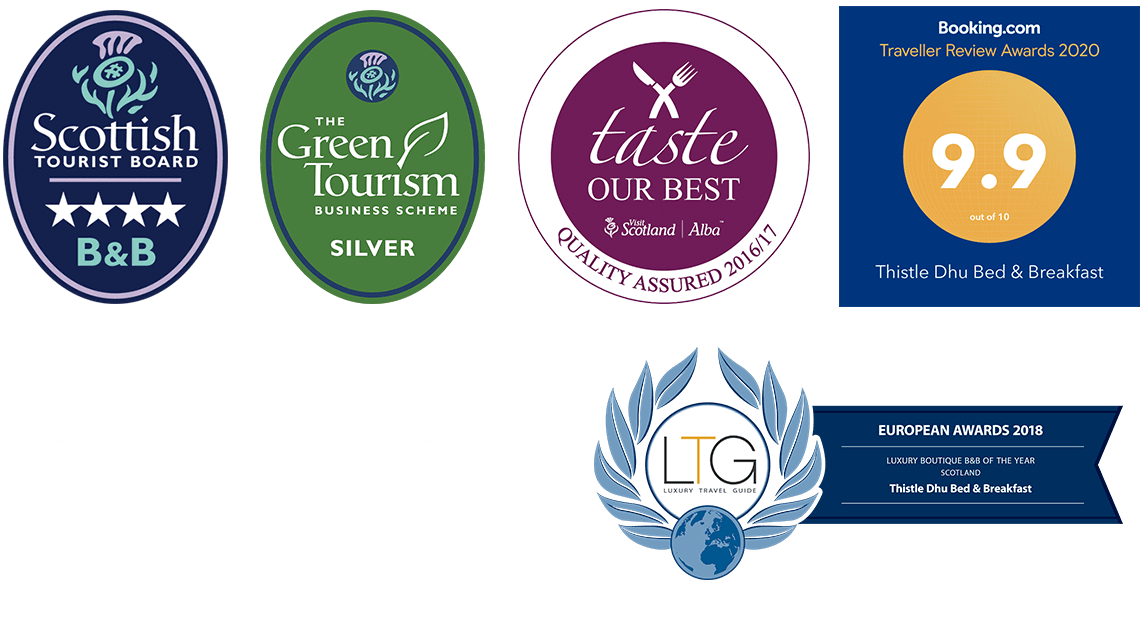 Thistle Dhu B&B Awards 2020