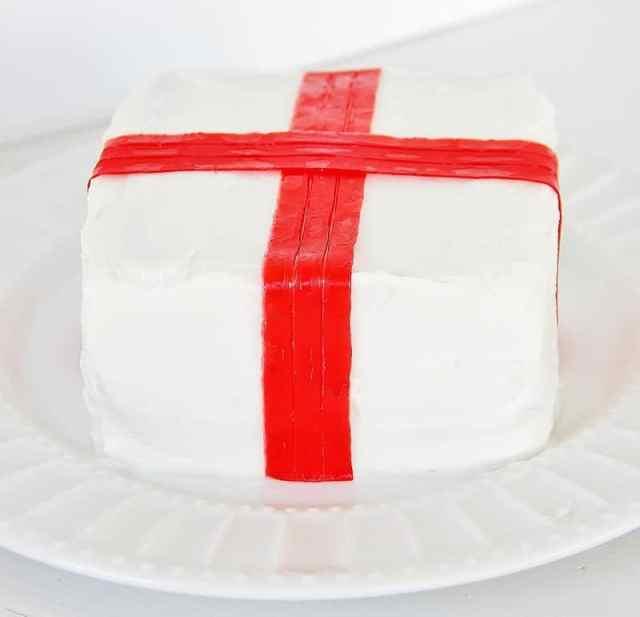 Ribbon On Cake