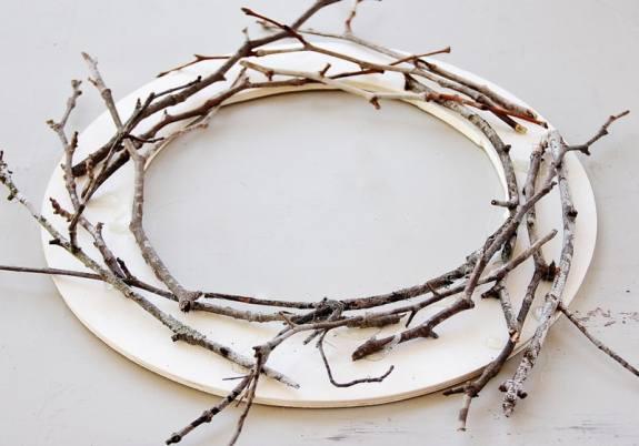 twig wreath tutorial