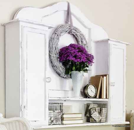 Distressed White Hutch