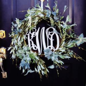Monogram Wreath Back Door