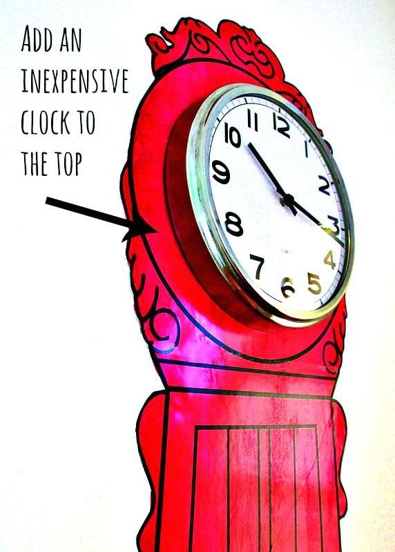 Painted Clock Thistlewood Farm