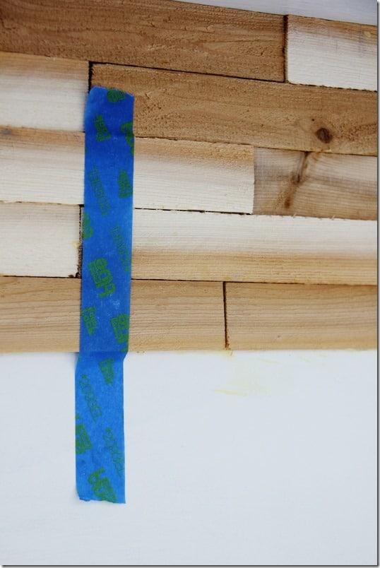 wood shim bookcase