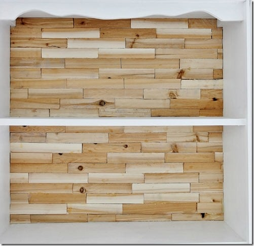 rustic wood bookcase how to