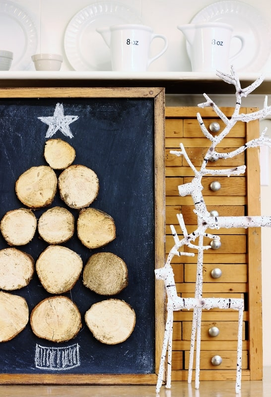 Wood Slice Christmas Tree diy