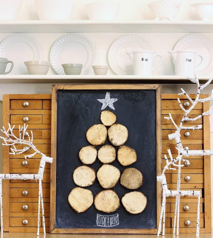 Wood Slice Christmas Tree