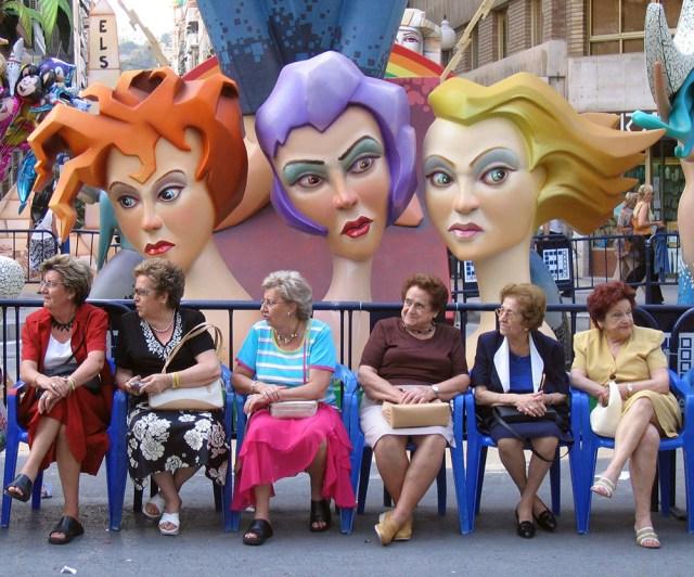 colourful ladies of alicante spain
