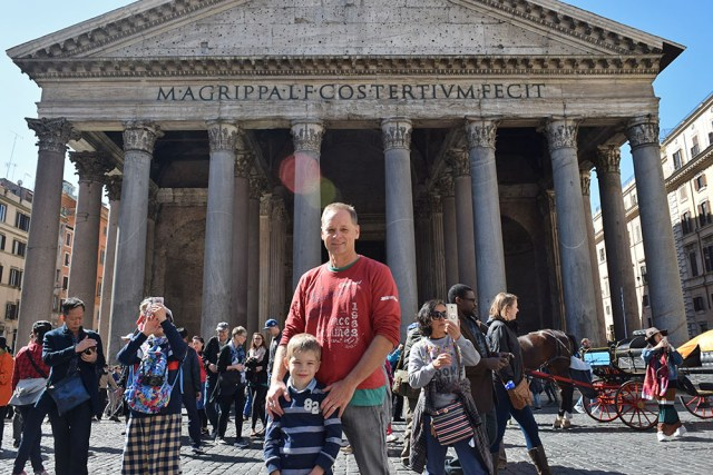The Pantheon is a former Roman temple