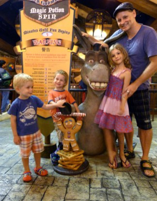 Universal Studios after the Shrek movie. From the Wood's trip to Singapore in 2014