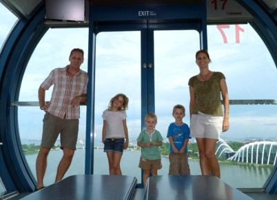 Self timer shot from the Singapore flyer. From the Wood's trip to Singapore in 2014