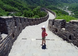 Olive at the great wall