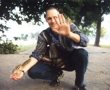 Rob getting up lcose with soem of the Indian wildlife. From Rob's trip to India in 1999.