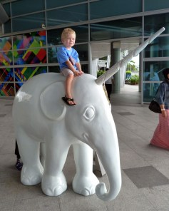 Had to have a ride. From the Wood's trip to Singapore in 2014