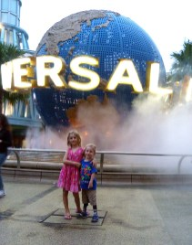 The entrance ot the Universal Studios. From the Wood's trip to Singapore in 2014