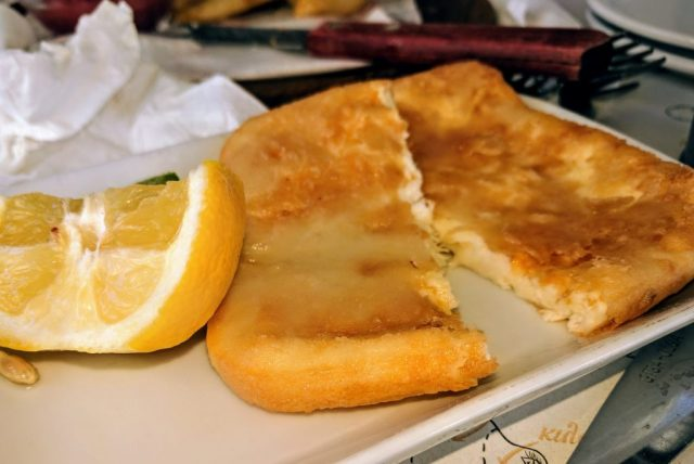 Fried cheese