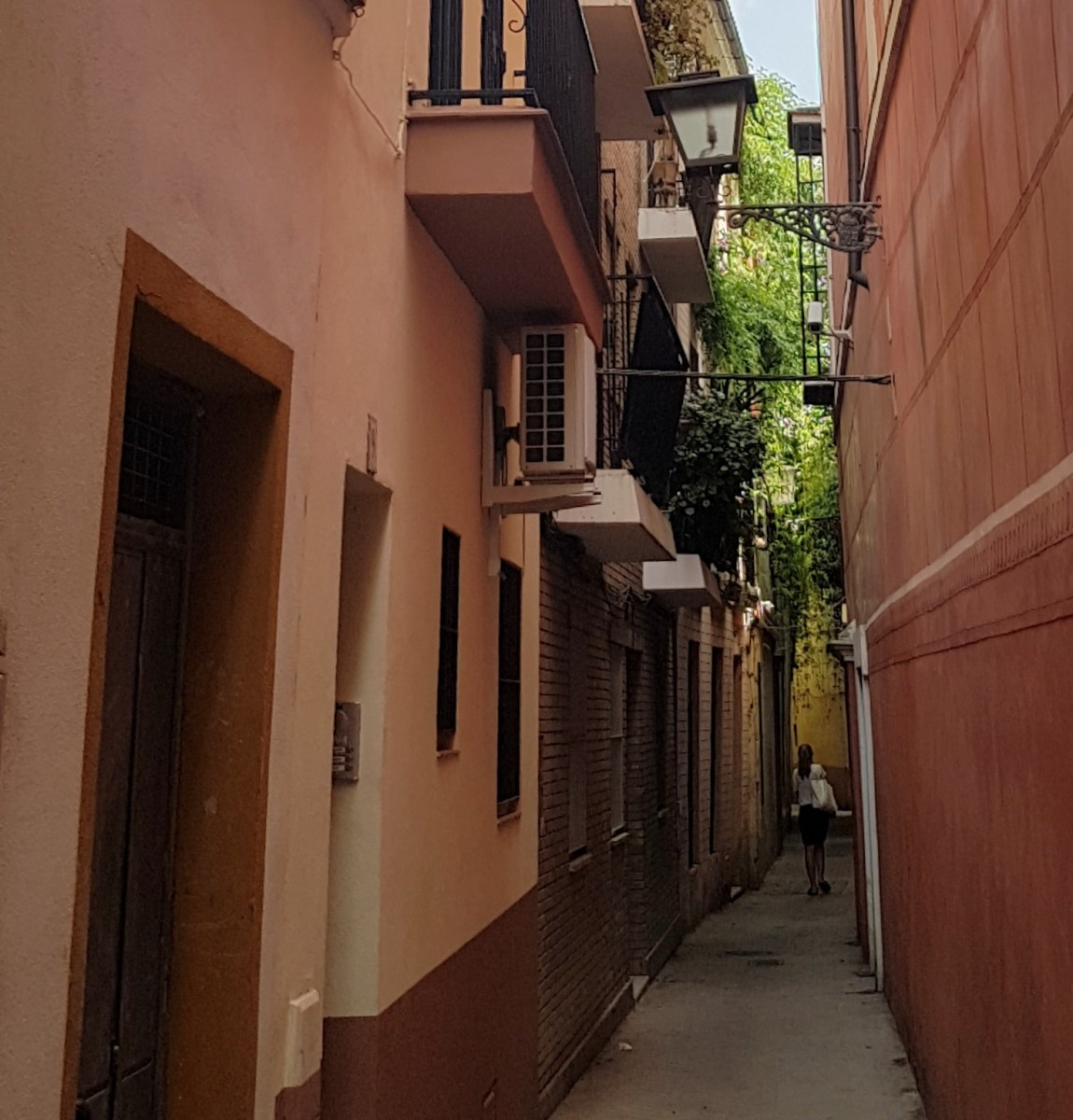 Our narrow street in the old part of Seville