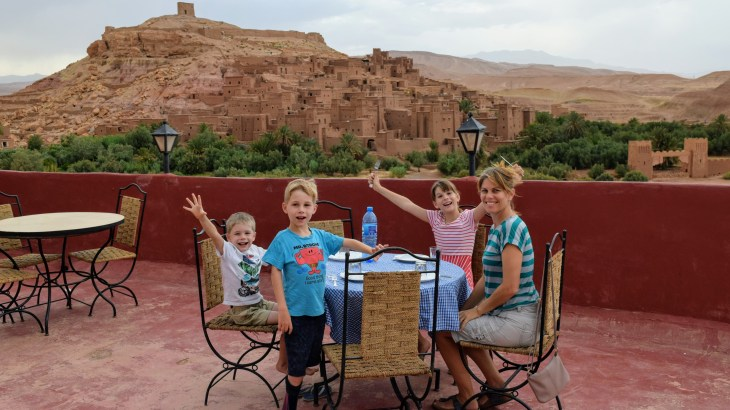 Enjoying one of our last meals in Morocco