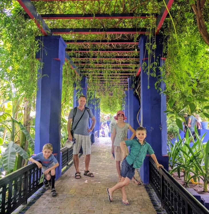 Yves St Laurent designed Majorelle Garden