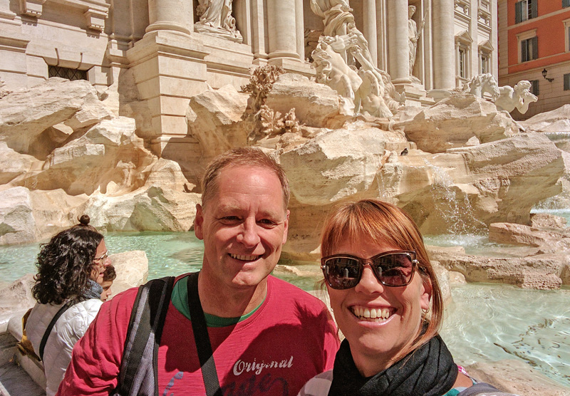 Back at the Trevi Fountain
