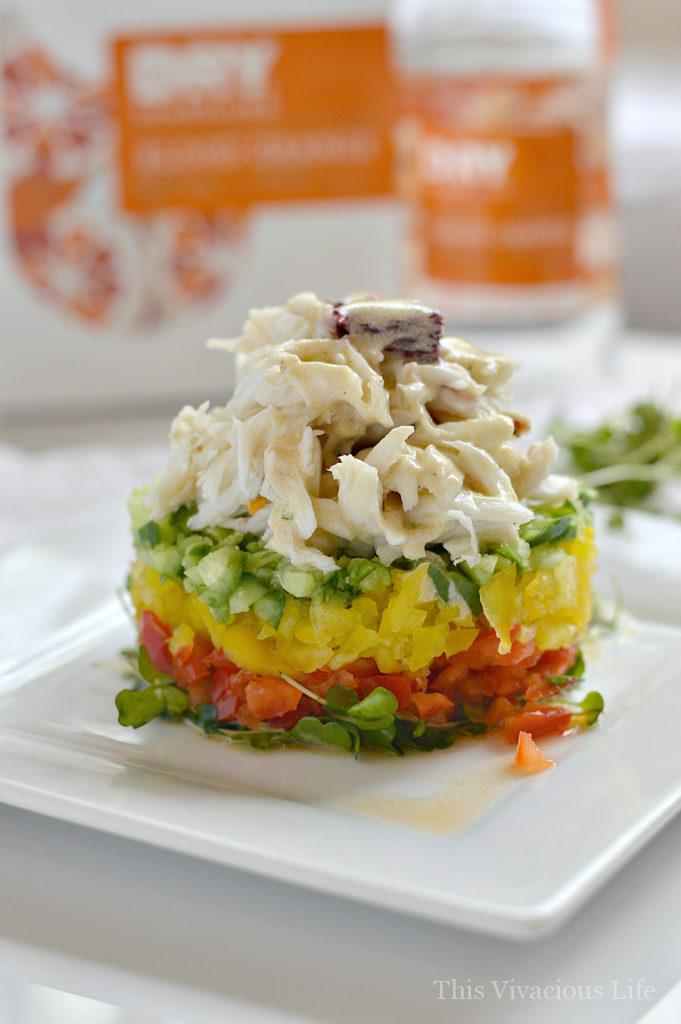 This crab stack with blood orange vinaigrette is fresh and delicate. It is the perfect summer meal that can be made in minutes.