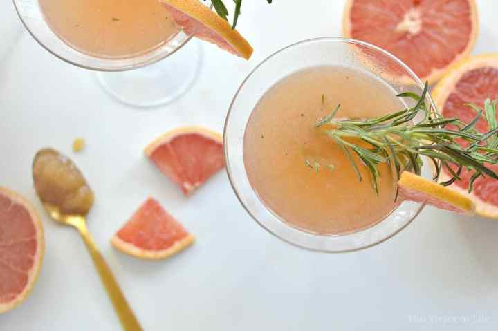This rosemary and grapefruit honey mocktail is delicious and family friendly. My kids loved it as much as I did!