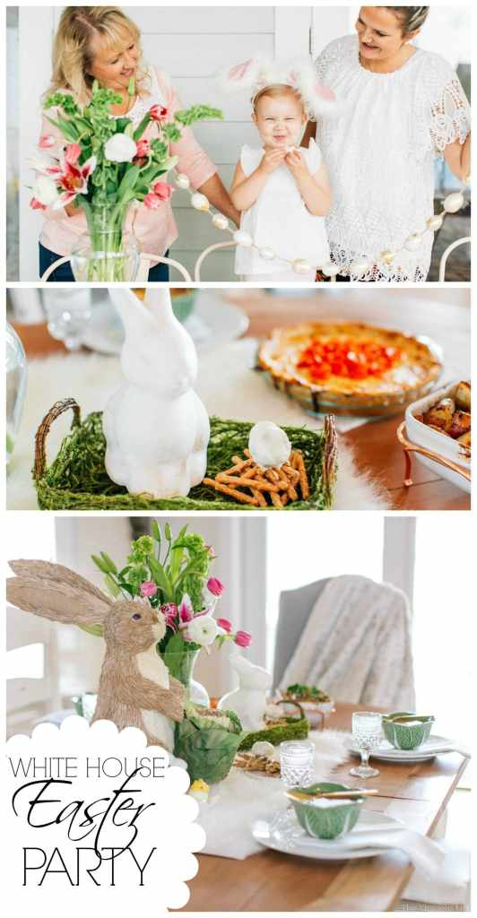 This white house Easter party is bright and full or Springtime cheer. | Easter party ideas | Easter party decorations | Easter party ideas for kids | Easter party for adults | gluten-free Easter recipes | gluten-free Easter party recipes || This Vivacious Life #easterparty #easterdecor #glutenfreeeaster