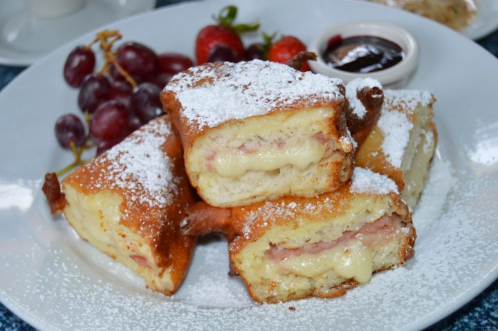 Disneyland gluten-free monte Cristo sandwiches on a white plate