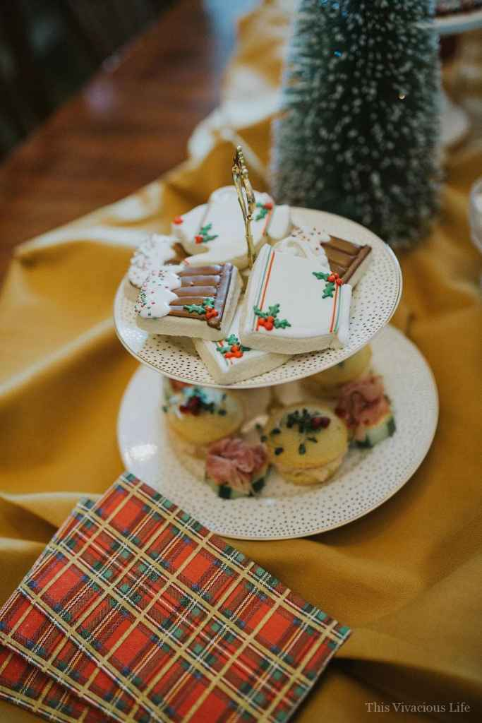 This holiday traditions and tea party is a fun way to celebrate the holidays with your favorite gals making Christmas Eve boxes and enjoying a traditional tea party.   holiday tea party ideas   holiday party ideas   Christmas party ideas   how to host a holiday tea party   unique holiday party ideas    This Vivacious Life #holidayparty #christmasteaparty #christmaspartyideas