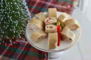 Christmas Party Pinwheels Tortilla Roll Ups