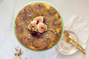 Upside Down Fig Cake {Gluten-Free}