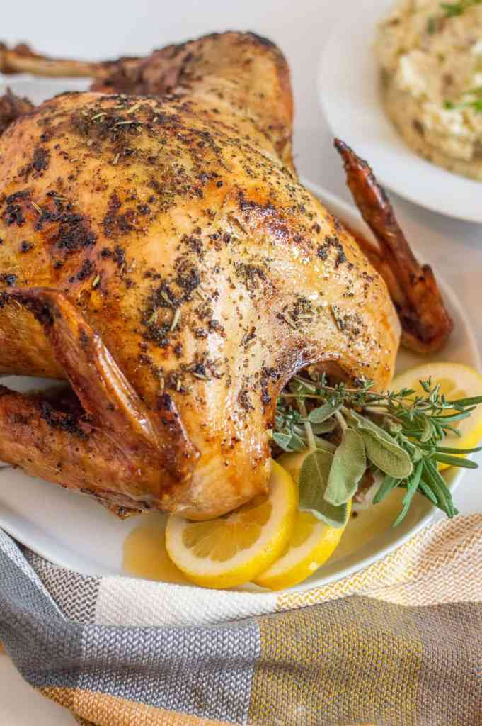 Turkey with herbs and lemons