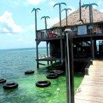 Intertubes floating at the Palapa Bar and Grill