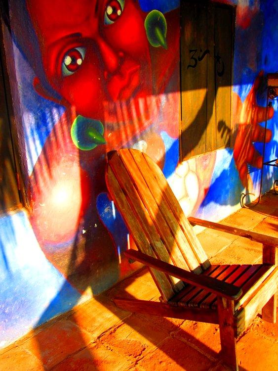 Oaxaca beach chair and mural