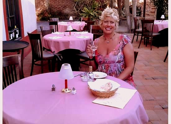 Val at a San Jose del Cabo restaurant