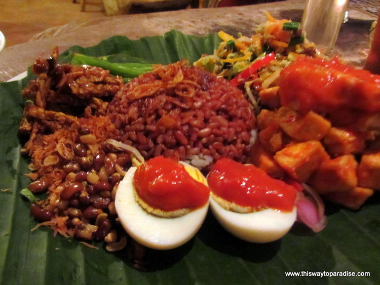 Nasi Campur From The Yellow Flower, Ubud,Penenestan, Bali