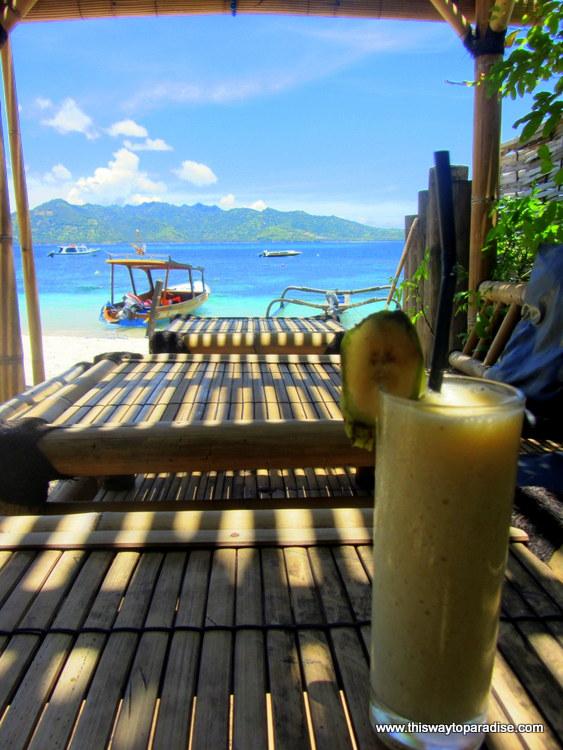 Banana Juice on Gili Air,Gili Islands