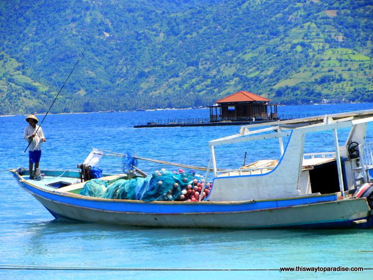 Boat on Gili Air, Gili Islands