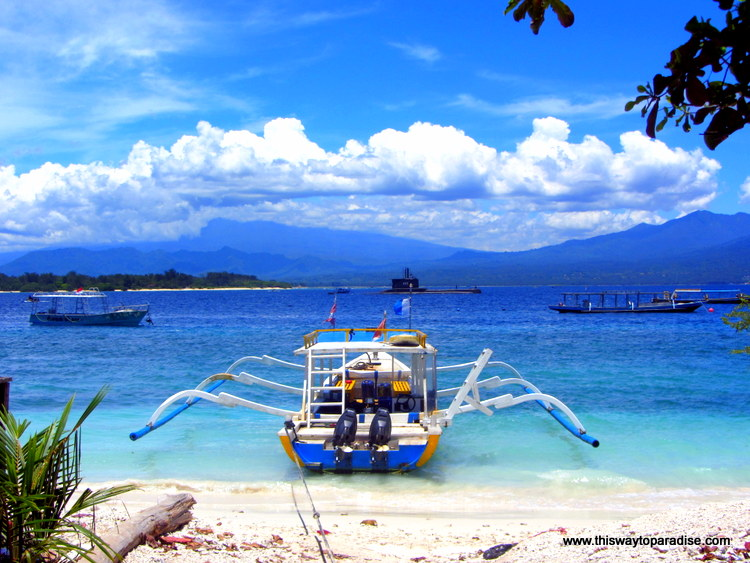 Boat on Gili Islands