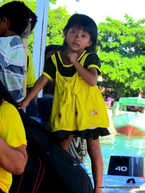 Girl on ferry to Gili Meno, Gili Islands