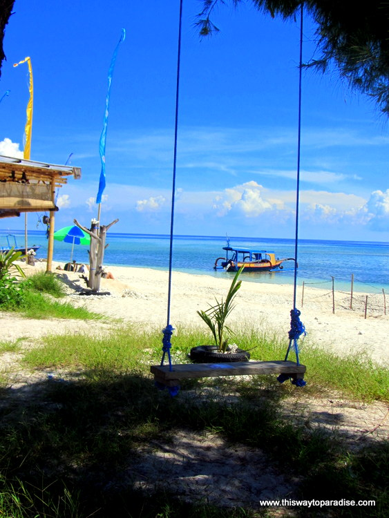 Swing on Gili Meno, Gili Islands