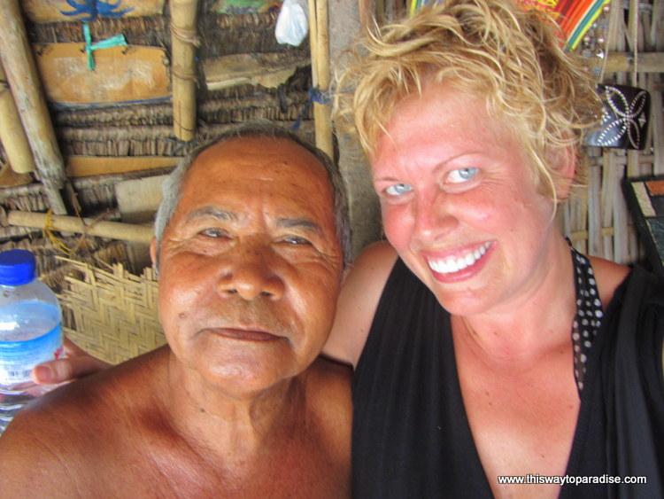 Val and Botel on Gili Meno, Gili Islands