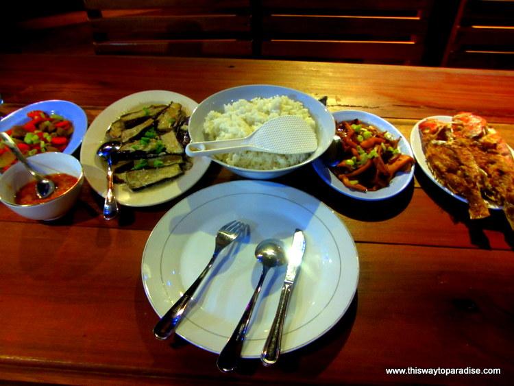 Dinner at Raja Ampat Dive Resort
