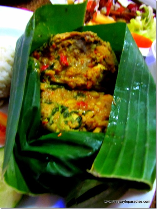 Chicken and chilies cooked in coconut milk at Yogi's Paradise and Grill, a restaurant in Kuta, Bali
