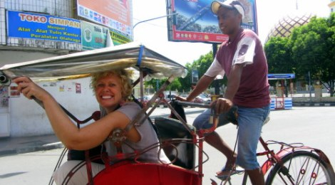 Getting Around By Becak