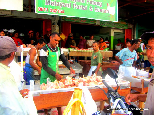 Chicken at the Ambon Market