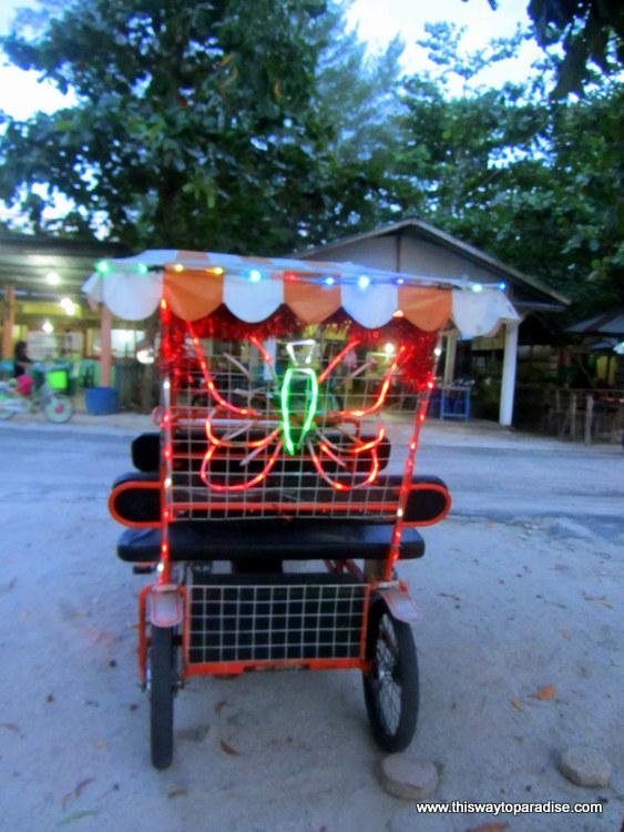 Belitung, Sumatra tuk tuk
