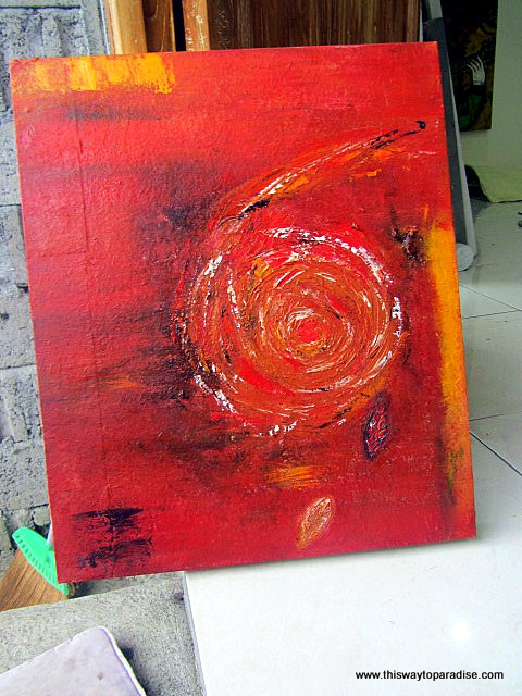 Painting in Bali Imperfection