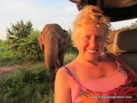 Valen Dawson at Yala Park in Sri Lanka