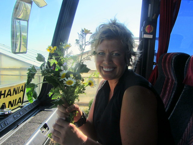 Picking daisies in Crete